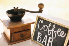 Coffee Bar Chalkboard Plaque Framed
