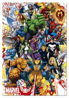 100/% Algodón Tela Marvel Spiderman guerreros Large Print 140cm de ancho
