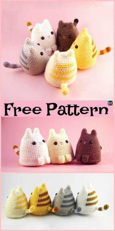 Mesmerizing Crochet an Amigurumi Rabbit Ideas. Lovely Crochet an Amigurumi Rabbit Ideas. Chat Crochet, Crochet Mignon, Free Crochet, Beginner Crochet, Crochet Patterns Amigurumi, Crochet Dolls, Knitting Patterns, Blanket Patterns, Cat Amigurumi