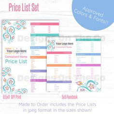 Lularoe Approved Font  Color Price List Set  Instant Download