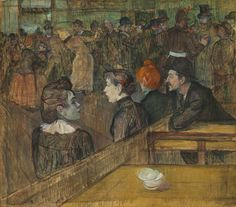 Moulin de la Galette - Henri de Toulouse-Lautrec, 1889. The Art Institute of Chicago, Mr. and Mrs. Lewis Larned Coburn Memorial Collection, 1933.458. Cat. 126 #Lautrec