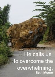 He calls us to overcome...
