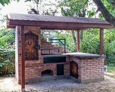 Outdoor kitchens are the perfect way to enhance patios, yards and outdoor spaces. Modular Outdoor Kitchens, Outdoor Kitchen Grill, Pizza Oven Outdoor, Backyard Kitchen, Outdoor Kitchen Design, Backyard Bbq, Outdoor Cooking, Backyard Landscaping, Parrilla Exterior