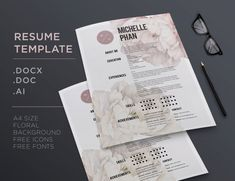 26 best floral cv resume templates images on pinterest cv