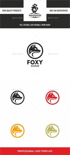Fox Logo Design Template Vector #logotype Download it here: http://graphicriver.net/item/fox-logo/12907954?s_rank=421?ref=nexion