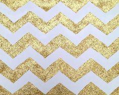 glittery gold chevron
