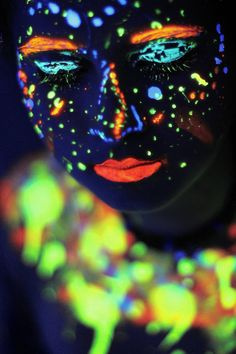 Glow in the Dark Body Paint for face
