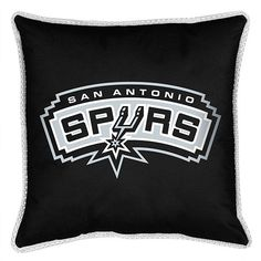 Accent your room with the San Antonio Spurs throw pillow. The team color pillow…