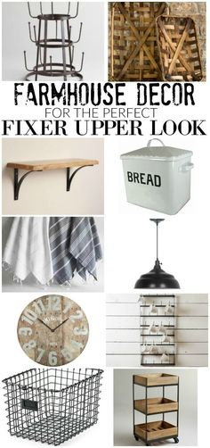 30 Affordable FARMHOUSE Decor items for the Perfect FIXER UPPER Look! Littlehouseoffour.com