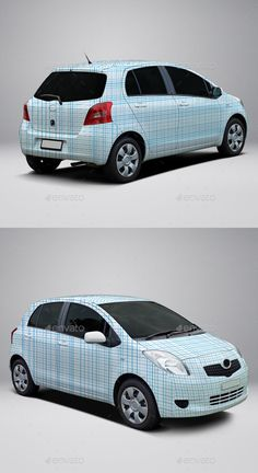 2008 Toyota Yaris Hatch Wrap MockUp   Download: http://graphicriver.net/item/2008-toyota-yaris-hatch-wrap-mockup/10456482?ref=ksioks