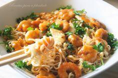 Receitas para a Felicidade!: Noodles de Frango e Camarão