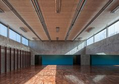 Brick-built primary school in Portugal designed to sit sensitively in its surroundings.