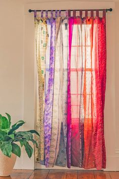 Recycled Silk Panel Curtain | Mexicali Blues