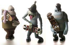 skate zombies vinyl toys