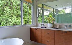 Forest House by Garret Cord Werner bathroom.
