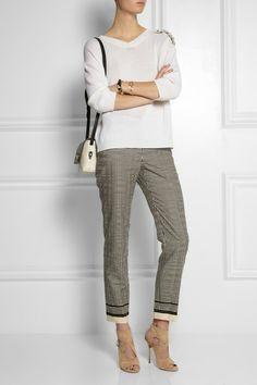 Lanvin printed cotton blend skinny pants