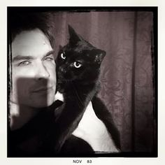 Ian Somerhalder. Urges his Instagram followers to adopt a black kitty or pup. Black cats and dogs are the last to be adopted and the first to be Euthanized? Why? Superstition apparently. People this isnt Salem. Black cats and dogs are beautiful.♛   ♛~✿Ophelia Ryan ✿~♛