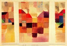 'Aldea del Norte' de Paul Klee (1879-1940, Switzerland)