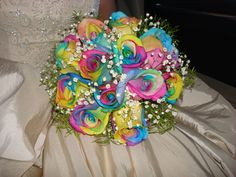 Rainbow Roses (Happy Roses) My wedding bouquet