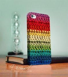 Super cool crochet iPhone case.