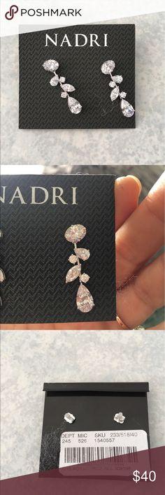NWT Nadri CZ Drop Earrings So Beautiful and NWT! Nordstrom Jewelry Earrings
