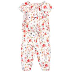 a03ae71648 Mayoral Pink Floral Print Jumpsuit at Childrensalon.com Jumpsuits For  Girls