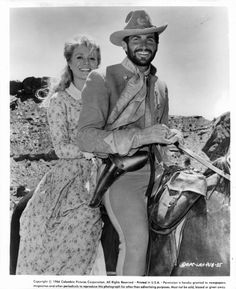 """Inger Stevens and George Hamilton in a publicity still for """"A Time for Killing"""" Old Movies, Vintage Movies, Inger Stevens, George Hamilton, Tv Westerns, Black Actors, Farmer's Daughter, Western Movies, Columbia Pictures"""