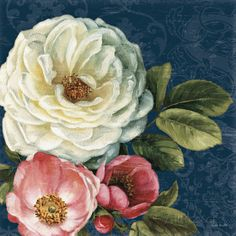 Floral Damask II on Indigo Prints by Lisa Audit at AllPosters.com