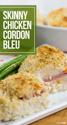 Chicken Cordon Bleu has never been so easy — or skinny at only 326 calories! For the boy :) one of his favorites! Healthy Dishes, Easy Healthy Dinners, Healthy Cooking, Food Dishes, Healthy Eating, Weeknight Dinners, Healthy Food, Clean Eating, Ww Recipes