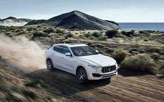 Download wallpapers Maserati Levante, 2017, 4k, white luxury SUV, Italian crossovers, white Levante, Maserati