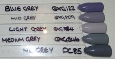 BlueSky greys Bluesky Shellac, Bluesky Gel Polish, Shellac Nails, Gel Polish Colors, Gel Color, Nail Colors, Nail Polish, Dipped Nails, Nails On Fleek