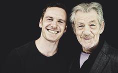 X-Men: Days of Future of Past cast - Sir Ian McKellan and Michael Fassbender *
