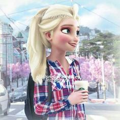 Elsa as a studentHere's a back to school edit since it's starting for most people (including me)!What grade/year are you going to be in this year? Disney Princess Fashion, Disney Princess Pictures, Disney Pictures, Disney Style, All Disney Princesses, Disney Girls, Elsa Moderna, Princesas Disney Dark, Disney Adoption