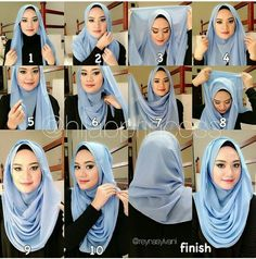 Are You Veiled ? Here are 20 Styles Of Hijab Fashion And Modern - Best Newest Hairstyle Trends : Are You Veiled ? Here are 20 Styles Of Hijab Fashion And Modern Modern Hijab Fashion, Islamic Fashion, Muslim Fashion, Square Hijab Tutorial, Hijab Style Tutorial, Turkish Hijab Tutorial, Hijab Mode Inspiration, Stylish Hijab, Hijab Chic