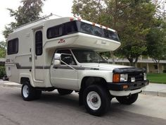 Toyota Camper, Off Road Truck Camper Conversions - Trucks Image Gallery Toyota Motorhome, Toyota Camper, Toyota 4x4, Toyota Trucks, Rv Truck, Truck Camping, Van Camping, Pickup Trucks, 4x4 Camper Van