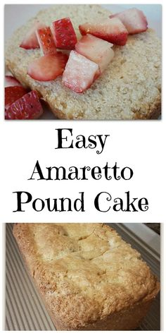 Lightened Up Amaretto Pound Cake - Easy and Delicious!