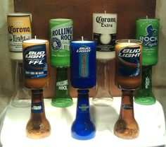 Beer Bottle Citronella Candle Holders. Cute for a present or deck/patio decor.