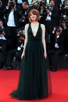 Emma Stone. So good we can't stop staring. Photo: Franco Origlia/Getty Images