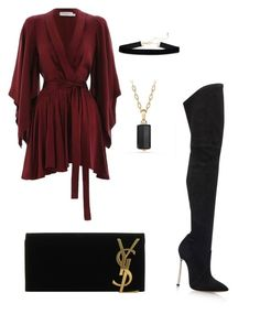 """""""Untitled #5"""" by kimmmyg on Polyvore featuring Zimmermann, Casadei, Yves Saint Laurent and David Yurman"""