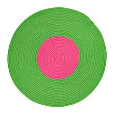 STICKAT Alfombra trenz, verde, rosa 75 cm verde/rosa