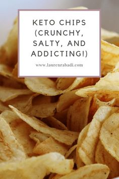 Keto Chips (Crunchy, Salty, and Addicting!) – Let's Do Keto Together! Keto Chips (Crunchy, Salty, and Addicting! Ketogenic Recipes, Low Carb Recipes, Healthy Recipes, Snack Recipes, Keto Tortillas, Comida Keto, Low Carb Diet, Keto Snacks, Salty Snacks