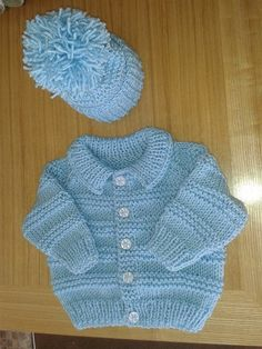 Baby Cardigan Knitting Pattern Free, Baby Boy Knitting Patterns, Knitting Charts, Knitting For Kids, Knitting Stitches, Baby Patterns, Free Knitting, Crochet Baby, Knit Crochet
