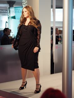 ad8404b944d6f Anna Scholz for Sheego plus size catwalk at the curvy fashion fair in  Berlin January 2016