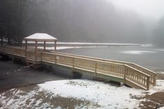 Ridge Pond getting some snow