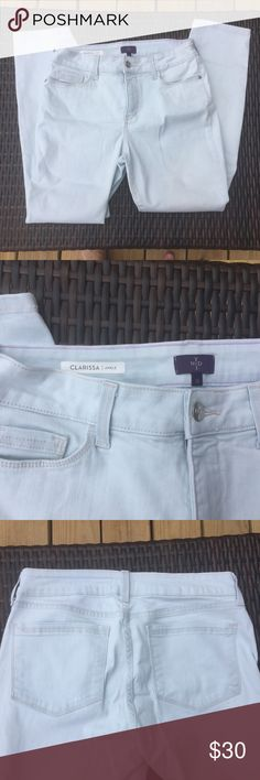 Light blue NYDJeans Great condition NYDJeans - Clarissa ankle length. Light baby blue. NYDJ Jeans Ankle & Cropped