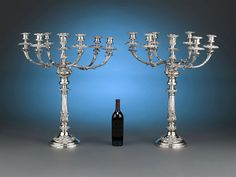 These wonderful Old Sheffield plate candelabra were crafted by the famed Matthew Boulton ~ M. Silver Candelabra, Sheffield Silver, Rare Antique, Regency, Antique Furniture, Creme, Silver Plate, Ceiling Lights, China