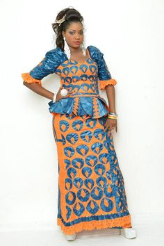 Two colored African brocade and lace tunic by NewAfricanDesigns, $165.00