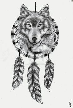 Tattoo Design Wolf Dream Catcher By RozThompsonArt On DeviantART
