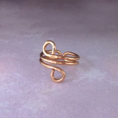 Adjustable Copper Wire Wrap Ring by Lexi Butler Designs