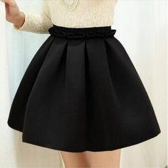 2016 Automne jupe espace coton force élastique taille haute jupe plissée jupes femmes tutu jupe saia polychrome occasionnel